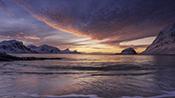 Photo: dd012005  Sunset, Haukland Beach, Lofoten, Norway