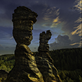Photo: dd011450      Hercules Columns, Bieletal, Saxon Switzerland, Germany