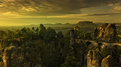 Photo: dd011451      Bastei Bridge in Saxon Switzerland, Germany