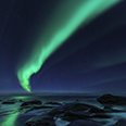 Photo: dd011207     Northern Lights , Aurora borealis,  Utakleiv, Lofoten, Norway