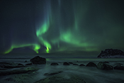 Photo: dd011208     Northern Lights , Aurora borealis,  Utakleiv, Lofoten, Norway