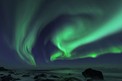 Photo: dd011209     Northern Lights , Aurora borealis,  Utakleiv, Lofoten, Norway