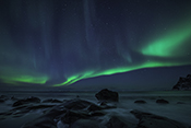 Photo: dd011210     Northern Lights , Aurora borealis,  Utakleiv, Lofoten, Norway